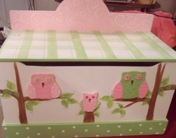 Toy chest toy box OWL and BIRDS any color or shapes STORAGE
