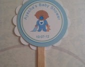 Cupcake Toppers, Baby Shower, Baby Boy Shower
