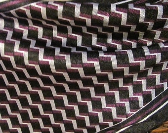 Lovely Black Geometric Poly Scarf - 10 x 55 Long