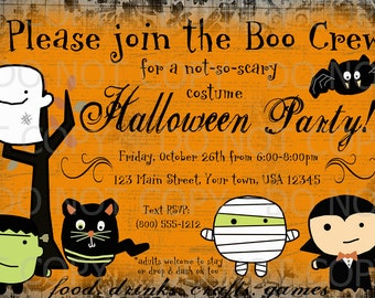 Printable DIY Halloween Party Invitation