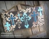SALE PRICE - - - - - Crossboard - Fun little sign full of crosses