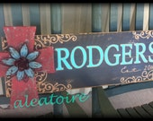Barnwood Name Sign with Attached Cross and Bling