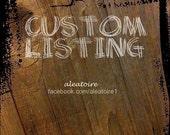 Custom Listing for Nicole Morello