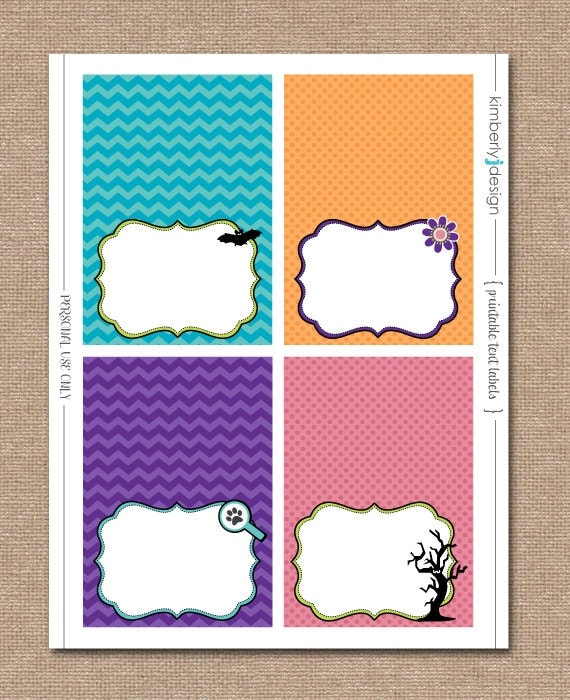 scooby doo birthday printable tent labels/food cards instant, Birthday invitations