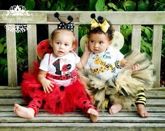 """BABY LADYBUG Costume....Baby Costume, up to 7"""" length..... sizes newborn-2T"""