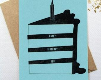 Happy Birthday Cake Card-Digital Download