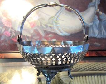 vintage Ornate Metal Basket