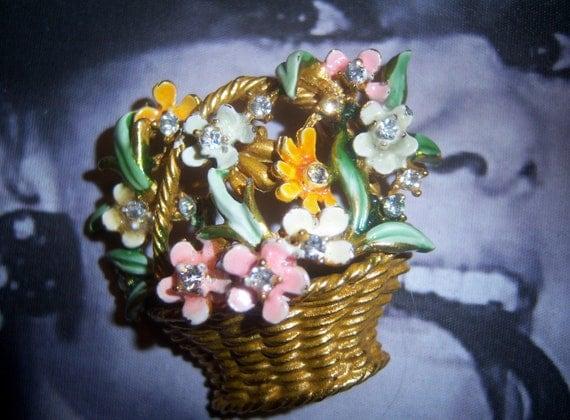 Circa 1962 BSK My Fair Lady Basket of Flowers