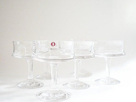 Vintage Cocktail Glass, Mid Century Barware Scandinavian