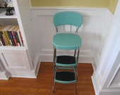 Reserved for Colleen-1950s Cosco Aqua Fold Out Step Chair PICK UP ONLY