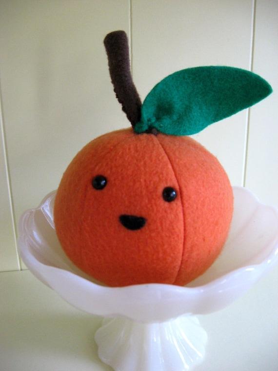 Plush Food Toys : Tangerine orange cute fake food plush stuffed toy fruit