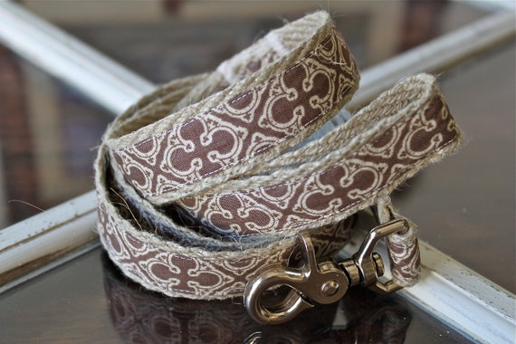 "Hemp Dog Leash - Crown (5/8"" wide) - 4 ft"