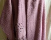 Mohair Wool Lurex Blend Rhinestones Shawl