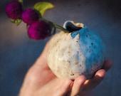 Wee Bud Vase, Ceramic Speckled with Brown, BVR4