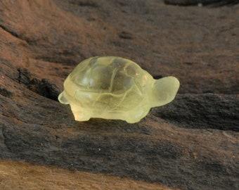 Lemon Quartz Turtle / Tortoise hand carved natural gemstone 8.77 cts