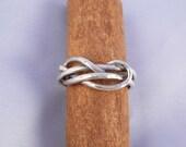 Infinity Knot Sterling Silver Rings -  ElenadE