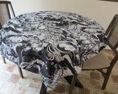 Black and White Tablecloth Set, Female Party Girls