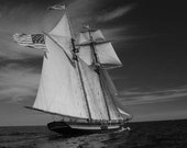 Nautical Photography, Black and White Sailboat Photos, Boat Photography, Nautical Home Decor, White Sails, Bedroom Decor, Large Office Decor