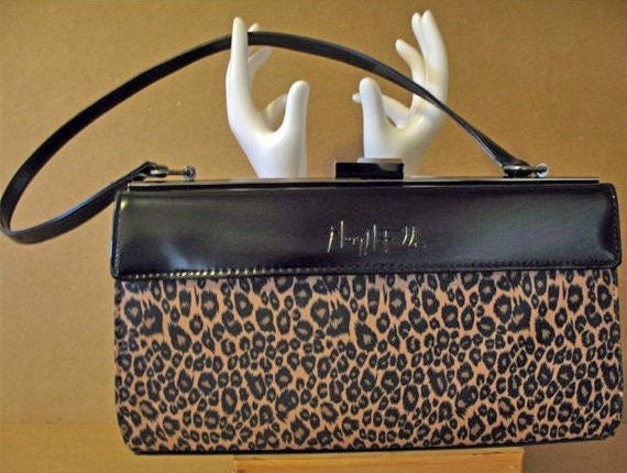 Vintage MINT  80s COUTURE MARY Mcfadden Designer Signed  3 Way Perfect Purse