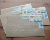 Custom Wedding Calligraphy Envelopes Adkins Font