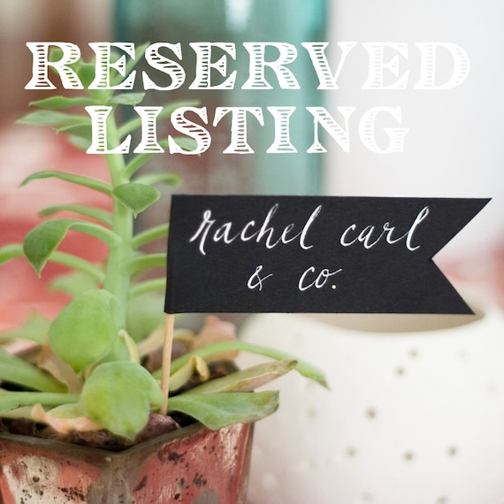 RESERVED Listing DEPOSIT for Amanda Warren for Black Tented Cards at October Wedding