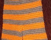 "Orange and Brown Striped Longies """"""FREE SHIPPING"""""""