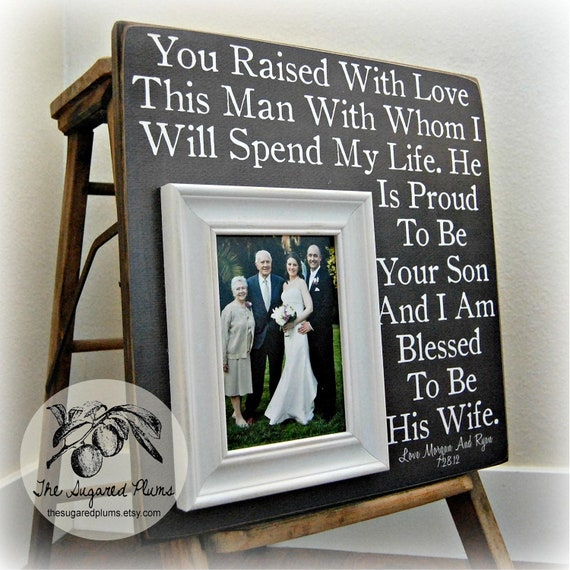 ... Groom, Father of the Groom, Parents Thank You Gift, Wedding