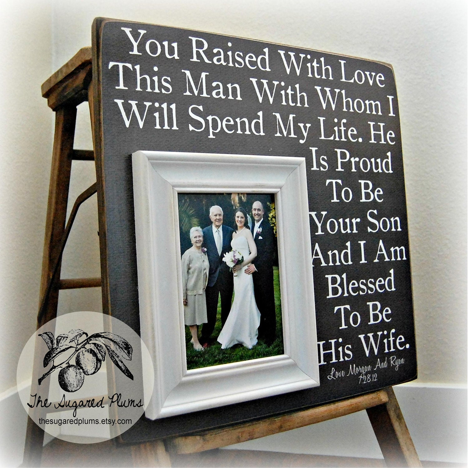 Wedding Gift For Grooms Father : Parents of the Groom Gift Mother of the Groom by thesugaredplums