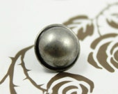 Metal Buttons - Domed Metal Buttons , Nickel Silver Color , Shank , 0.47 inch , 10 pcs