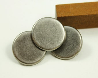 Metal Buttons - Nickel Silver Metal Buttons , Shank , 0.71 inch , 10 pcs