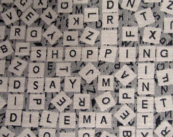 SCRABLE Jacquard  one yard min/ need more let us know