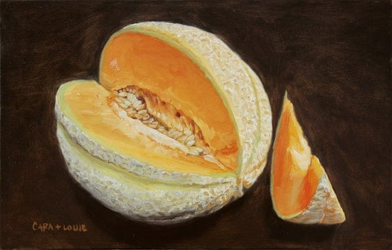 Cantaloupe - an original oil painting by Cara & Louie