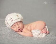 Pink Baby Hat Legwarmer Set - Newborn Photo Prop - Baby Leggings and Hat - Hat and Leggings Set - Pink Newborn Prop