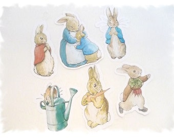 Peter Rabbit Cutout characters - PETER RABBIT STANDARD Mix of 6 - Beatrix Potter Characters - A la Carte Peter Rabbit Party Items