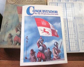 1980s Conquistador Board Game The Age of Exploration 1495 thru 1600 by Avalon Hill, War games or Strategy