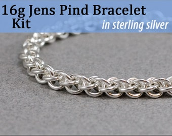 16g Jens Pind Bracelet Chainmaille Kit in Sterling Silver