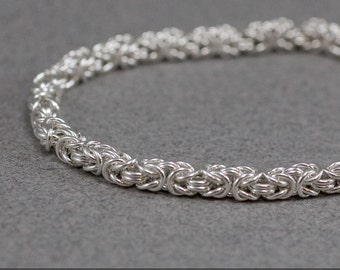 20g Byzantine Necklace Chainmaille Kit in Sterling Silver