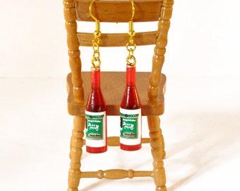 Miniature Wine Bottle Earrings - Wine Lover Gift - Wine Bottle Jewellery - Red Wine Earrings
