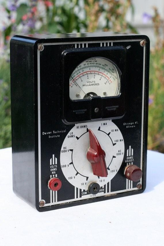 Vintage Devry Technical Institute Volt Meter