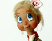 Polymer Clay Girl Art Doll Ooak - Laney