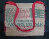 Messenger Laptop Bag Upcycled from Fargo Vintage Feed Sack