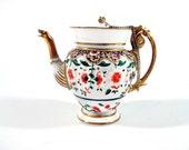 Nini Teapot Miniature Floral Urn Golden Goose Spout Item 6-2 Handpainted Gilt