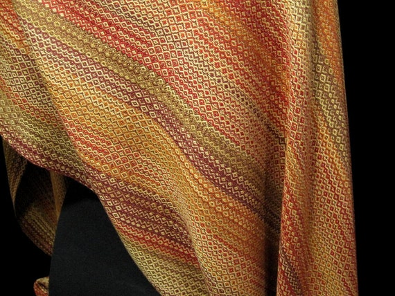 Woven Wrap Shawl, Evening Wear, Handwoven Shawl, Stole, Fall Clothing