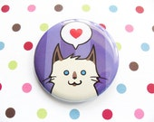 Siamese Himalayan Cat Pin for Charity