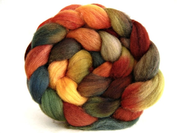 roving hand painted, combed top: Shetland spinning fiber