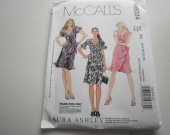 Pattern Ladies Wrap Dresses 3 Styles Sizes 16-20 McCalls 6024