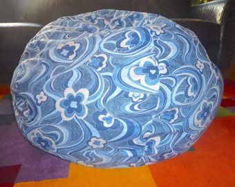 Blue, Grey Swirl Floral Denim Bean Bag Chair Cover, Light Blue, Navy Blue and Grey Blue, Gray Under 75.00 Etsy Kids