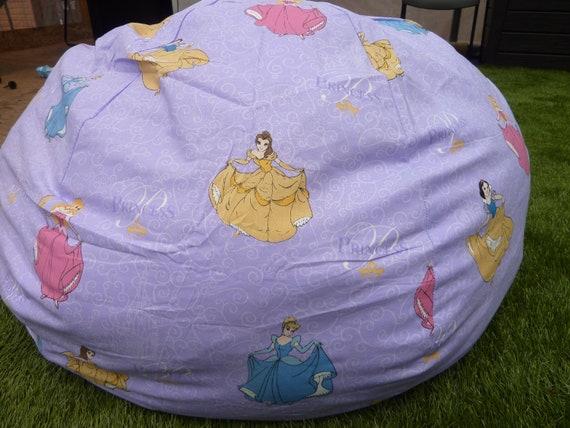 Purple Princess Bean Bag Chair Cover Purple Pink Blue