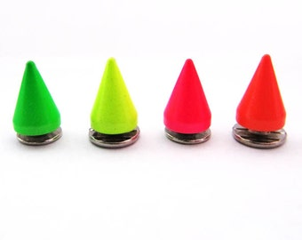 Neon Spike Studs - Easy to use - Screw-On - 4pc