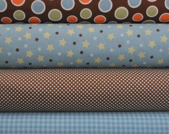 Mod Tod Blue Fat Quarter Bundle by Sherri Berry Designs for Riley Blake, 1 yard total